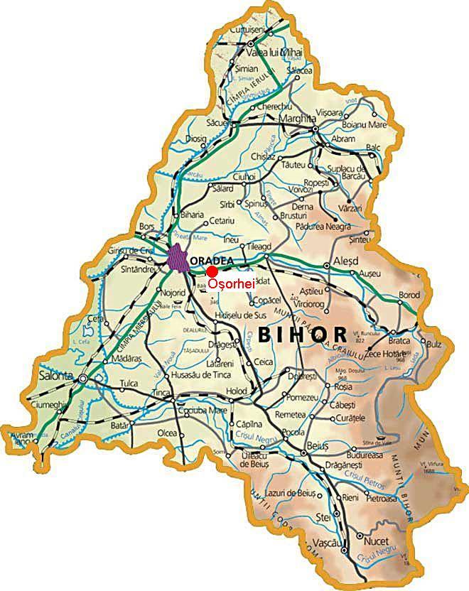 Harta județului Bihor